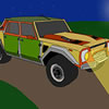 SUV Car Cartoon Puzzle